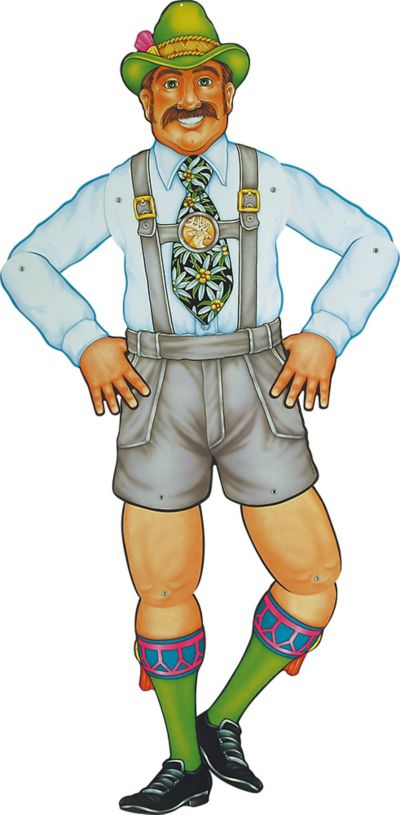 Mr. Oktoberfritz Jointed Oktoberfest Cutout