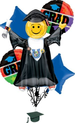 Graduation Balloon Bouquet 6pc - Bright Grad