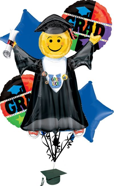 Graduation Balloon Bouquet 11pc Bright Grad Party City