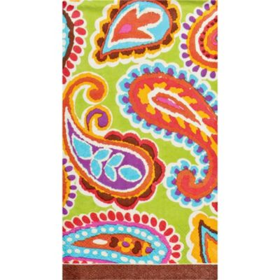 Bright Paisley Guest Towels 16ct