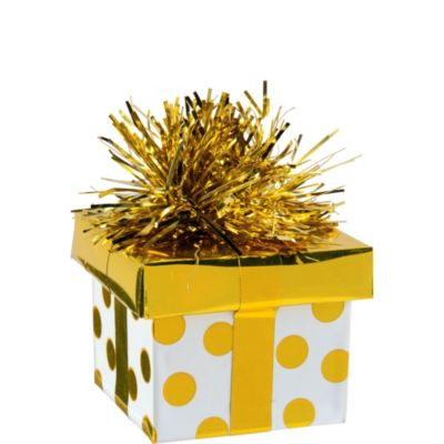 Gold Dots Gift Pack Balloon Weight 6oz