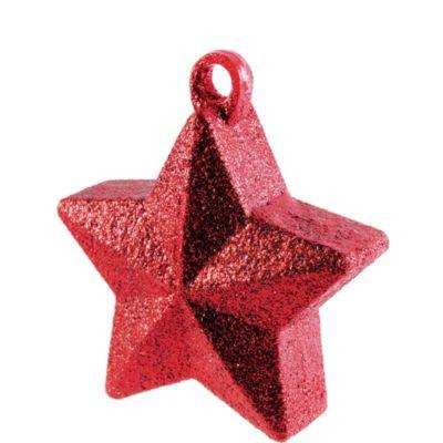 Red Glitter Star Balloon Weight 6oz