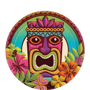 Tropical Tiki Dessert Plates 60ct