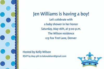 Custom Little Prince Baby Shower Invitations