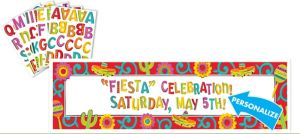 Giant Caliente Fiesta Personalized Banner Kit