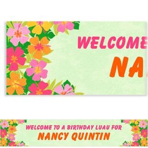 Custom Floral Paradise Warm Banner 6ft