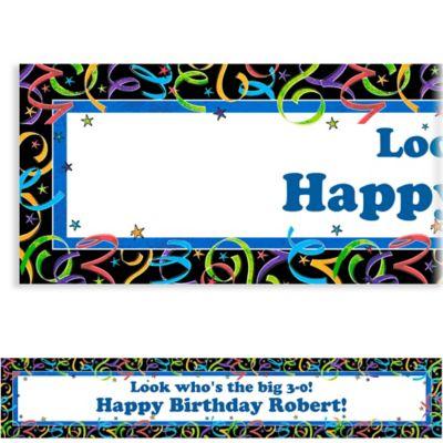 Let's Celebrate Custom Birthday Banner