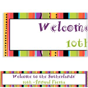 Custom Striped Fiesta Banner 6ft