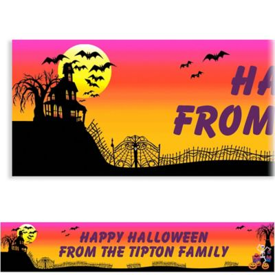 Haunted Hill Halloween Custom Banner