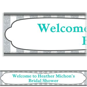 Custom Bride and Groom Bridal Shower Banner 6ft