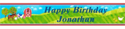 Barnyard Custom Birthday Banner 6ft
