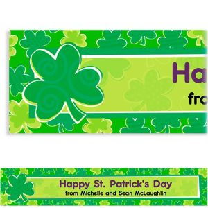 Custom Playful Shamrocks St. Patrick's Day Banner 6ft