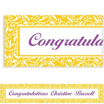 Custom Sunshine Yellow Ornamental Scroll Banner 6ft
