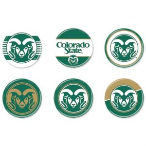 Colorado State Rams Buttons 6ct