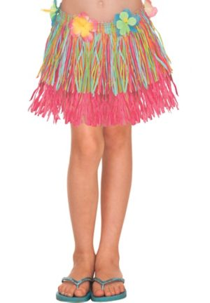 Child Rainbow Hula Skirt 12in Party City