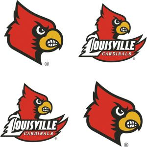 Louisville Cardinals Face Decals