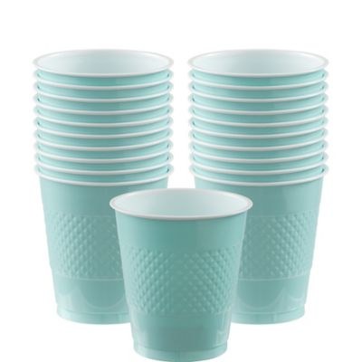 Robin's Egg Blue Plastic Cups 20ct