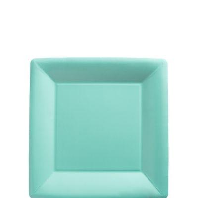 Robin's Egg Blue Paper Square Dessert Plates 20ct