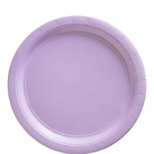 Big Party Pack Lavender Paper Lunch Plates 50ct