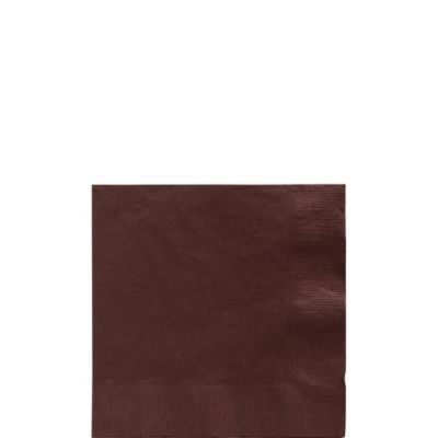 Chocolate Brown Beverage Napkins 125ct