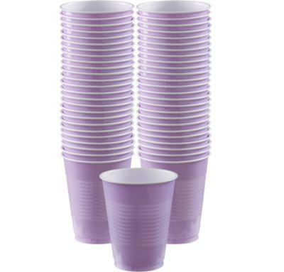 BOGO Lavender Plastic Cups 16oz 50ct
