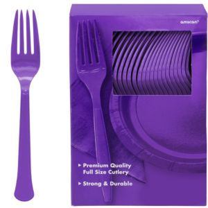 Big Party Pack Purple Premium Plastic Forks 100ct