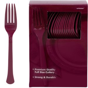 Big Party Pack Berry Premium Plastic Forks 100ct