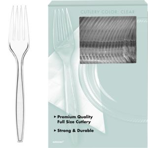 Big Party Pack CLEAR Premium Plastic Forks 100ct