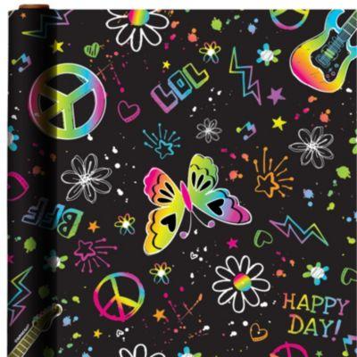 Neon Birthday Gift Wrap