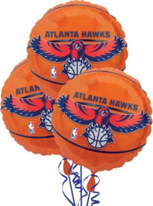 Atlanta Hawks Balloons 3ct - Basketball