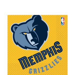 Memphis Grizzlies Lunch Napkins 16ct