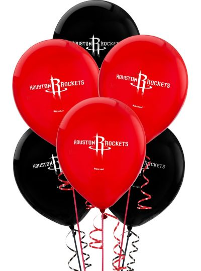 Houston Rockets Latex Balloon 12in 6ct