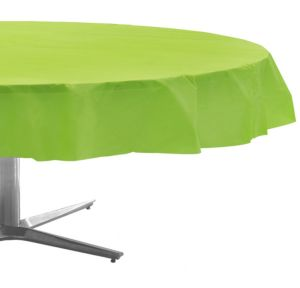 Kiwi Green Plastic Round Table Cover