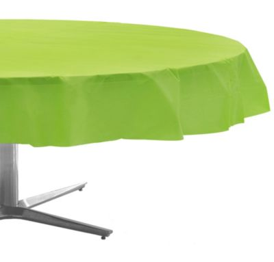 Kiwi Plastic Round Table Cover