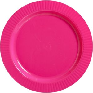 Bright Pink Premium Plastic Dinner Plates 16ct