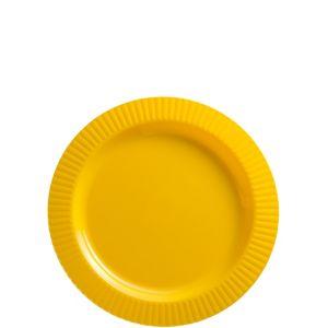 Sunshine Yellow Premium Plastic Dessert Plates 32ct