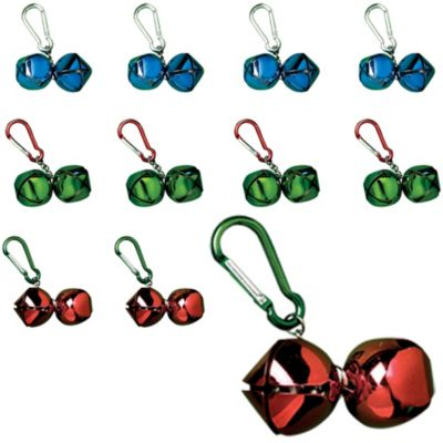 Jingle Bell Backpack Clips 24ct
