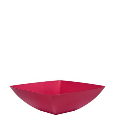 Raspberry Square Serving Bowl