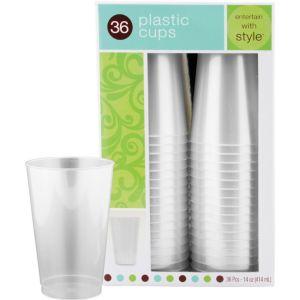 Pearl White Premium Plastic Tumblers 36ct