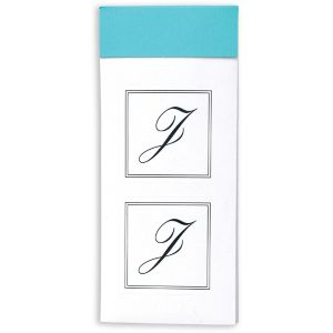 Monogram J Sticker Seals 30ct