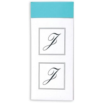 Monogram Envelope Seals J 30ct