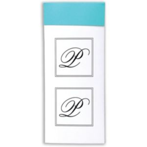 Monogram Envelope Seals P 30ct