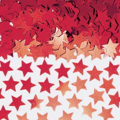 Mini Red Star Confetti