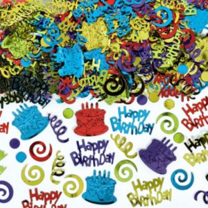 Multicolor Happy Birthday Confetti