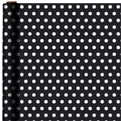 Jumbo Jet Black Polka Dot Gift Wrap