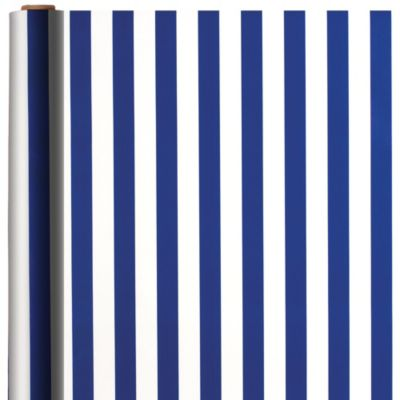 Jumbo Royal Blue Striped Gift Wrap