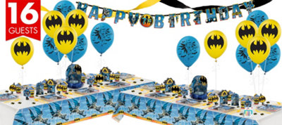 Batman Party Supplies Deluxe Party Kit