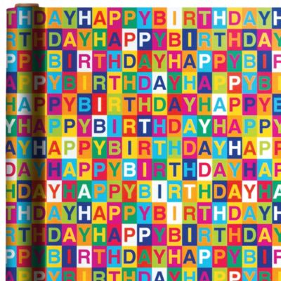 Checkerboard Birthday Gift Wrap
