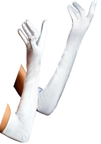 Adult Long White Gloves