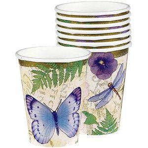 In the Garden Paper Cups 8ct